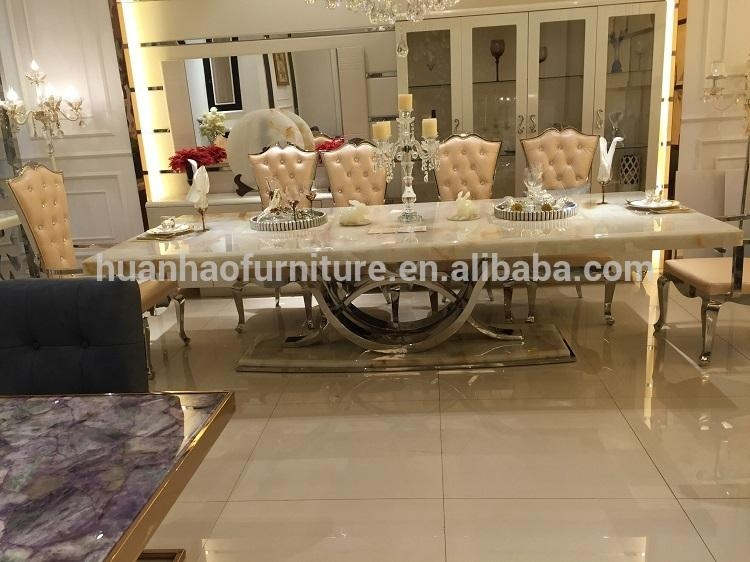 Latest Royal Design Onyx Top Dining Table Dh 1401 – Buy Latest Regarding Royal Dining Tables (Image 10 of 20)