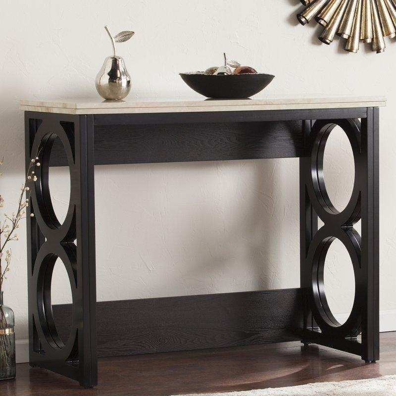 Latitude Run Maura Counter Height Console/ Dining Table In Faux With Regard To Counter Height Sofa Tables (Image 12 of 20)