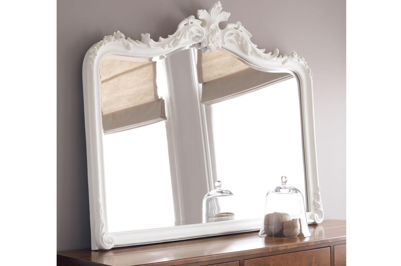 Laura Ashley Within White Overmantle Mirror (Image 15 of 20)