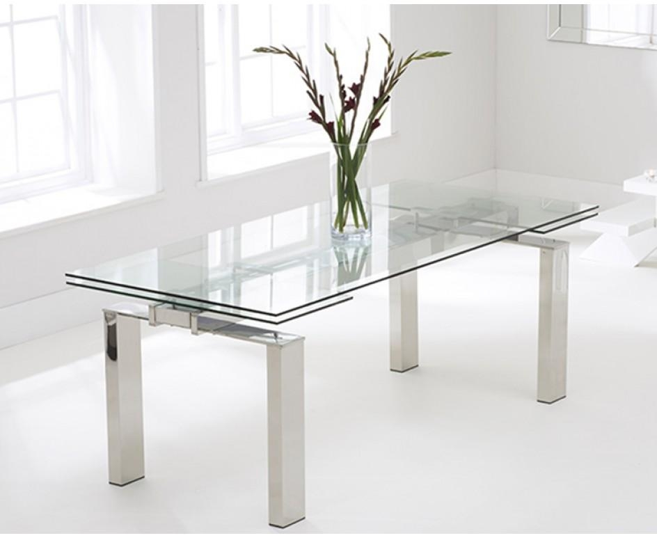 Lazio 200Cm Extending Glass Dining Table | The Great Furniture Inside Lazio Dining Tables (Image 6 of 20)