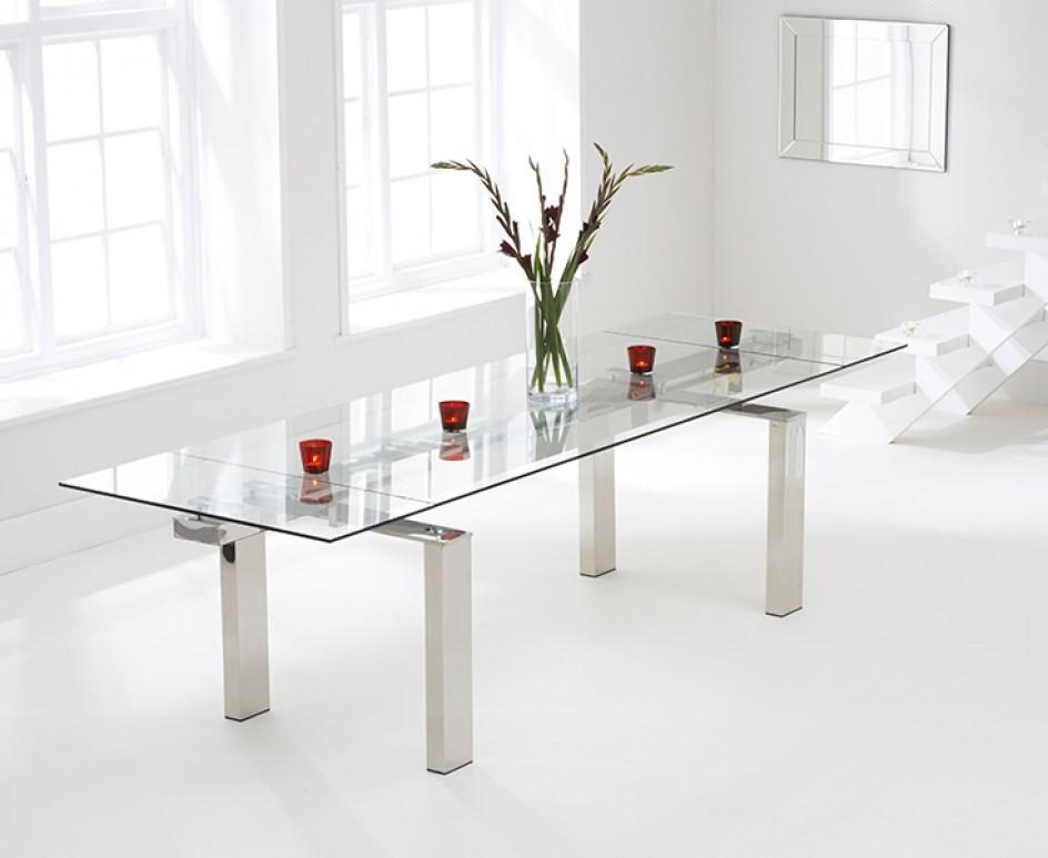 Lazio 200Cm Extending Glass Dining Table | The Great Furniture Inside Lazio Dining Tables (Image 5 of 20)