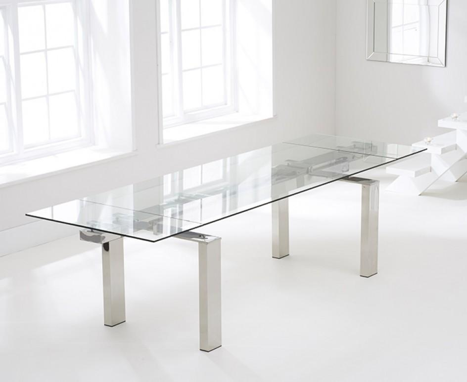 Lazio 200Cm Extending Glass Dining Table | The Great Furniture Regarding Lazio Dining Tables (View 5 of 20)