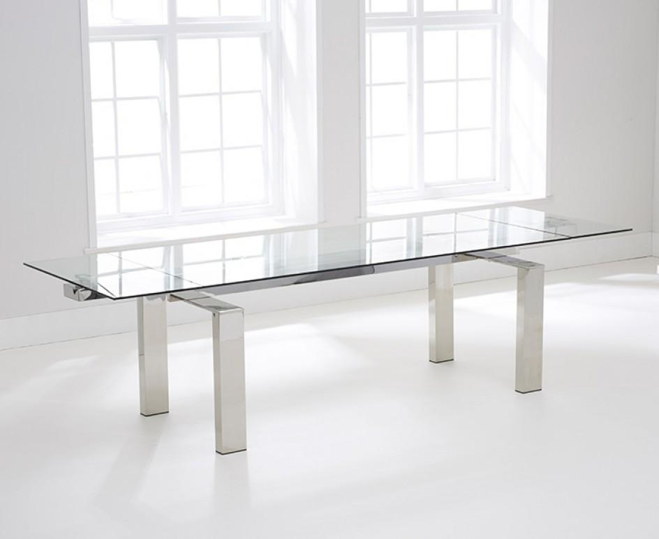 Lazio 200Cm Extending Glass Dining Table | The Great Furniture Throughout Lazio Dining Tables (View 6 of 20)
