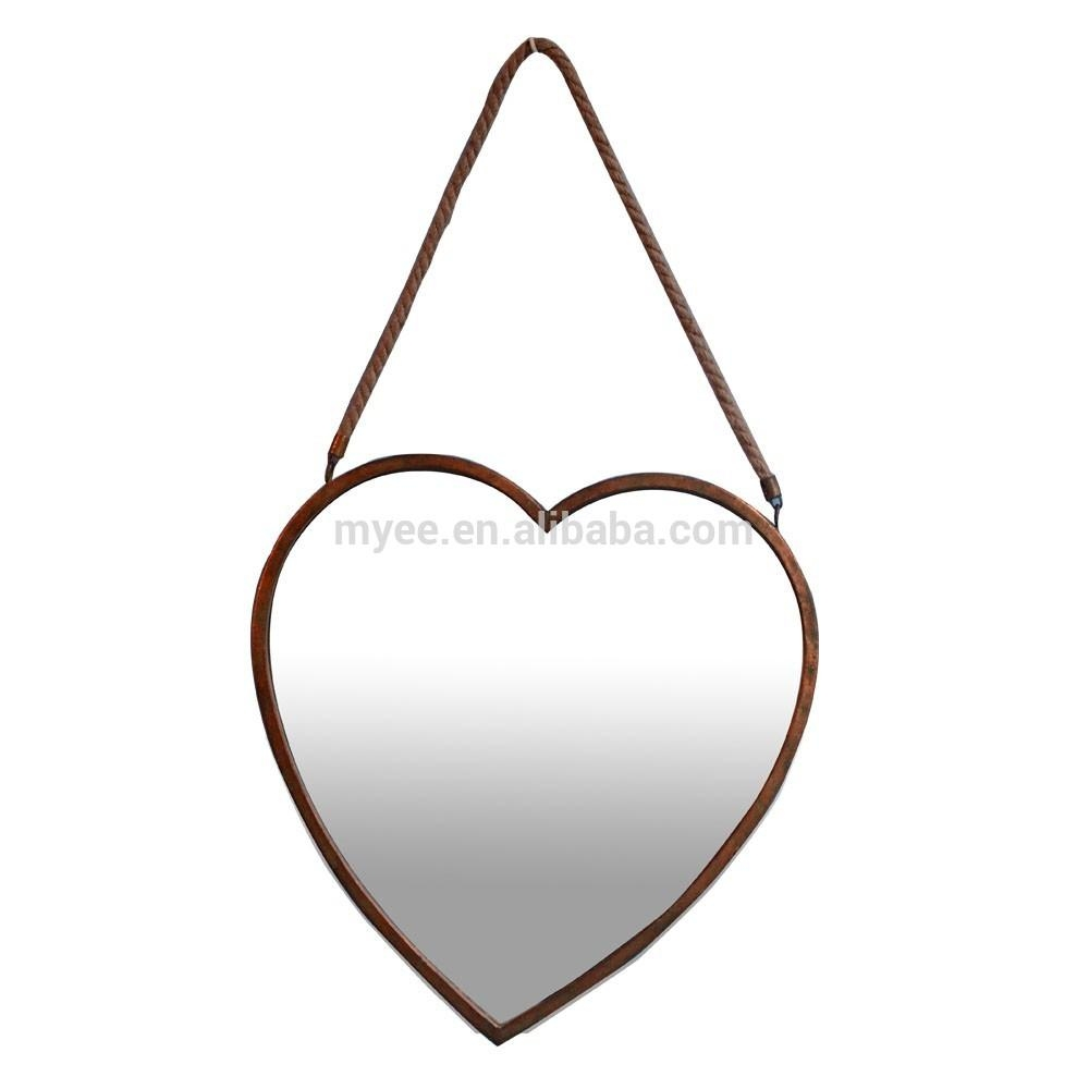 Leaf Shape Mirror, Leaf Shape Mirror Suppliers And Manufacturers With Gold Heart Mirror (View 18 of 20)
