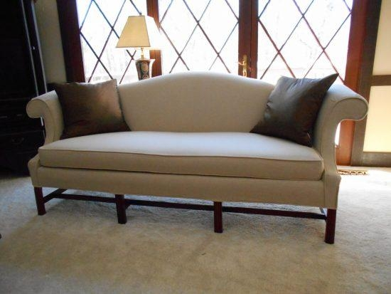 Leather Camelback Sofa (Image 9 of 20)