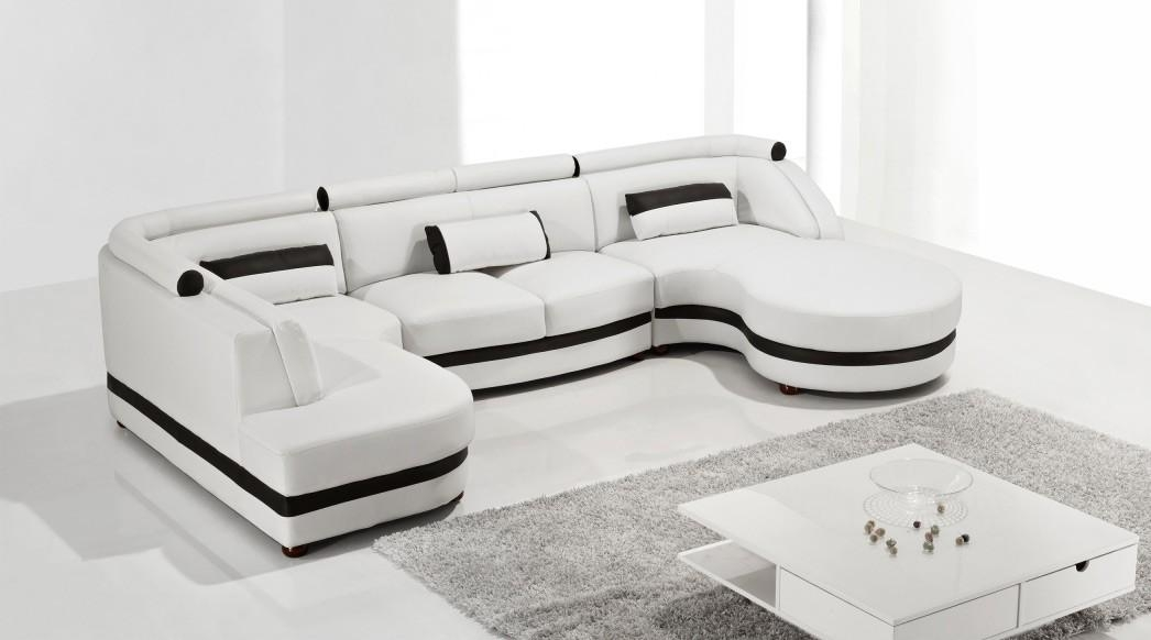 Leather Modern Sofa Inside Leather Modern Sectional Sofas (View 7 of 20)