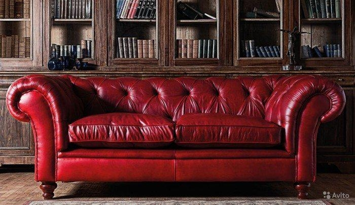 Leather Red Chesterfield Sofa – Classy Chesterfield Sofa Gallery Within Red Chesterfield Sofas (Image 12 of 20)