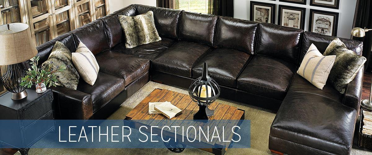 Leather Sectional Sofas | Haynes Furniture, Virginia's Furniture Store For Brompton Leather Sectional Sofas (Image 12 of 20)