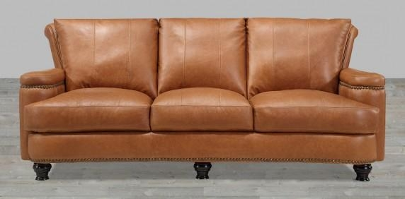 Leather Sofas, Buy Leather Sofas, Living Room Leather Sofas Within Brown Leather Sofas With Nailhead Trim (Image 14 of 20)
