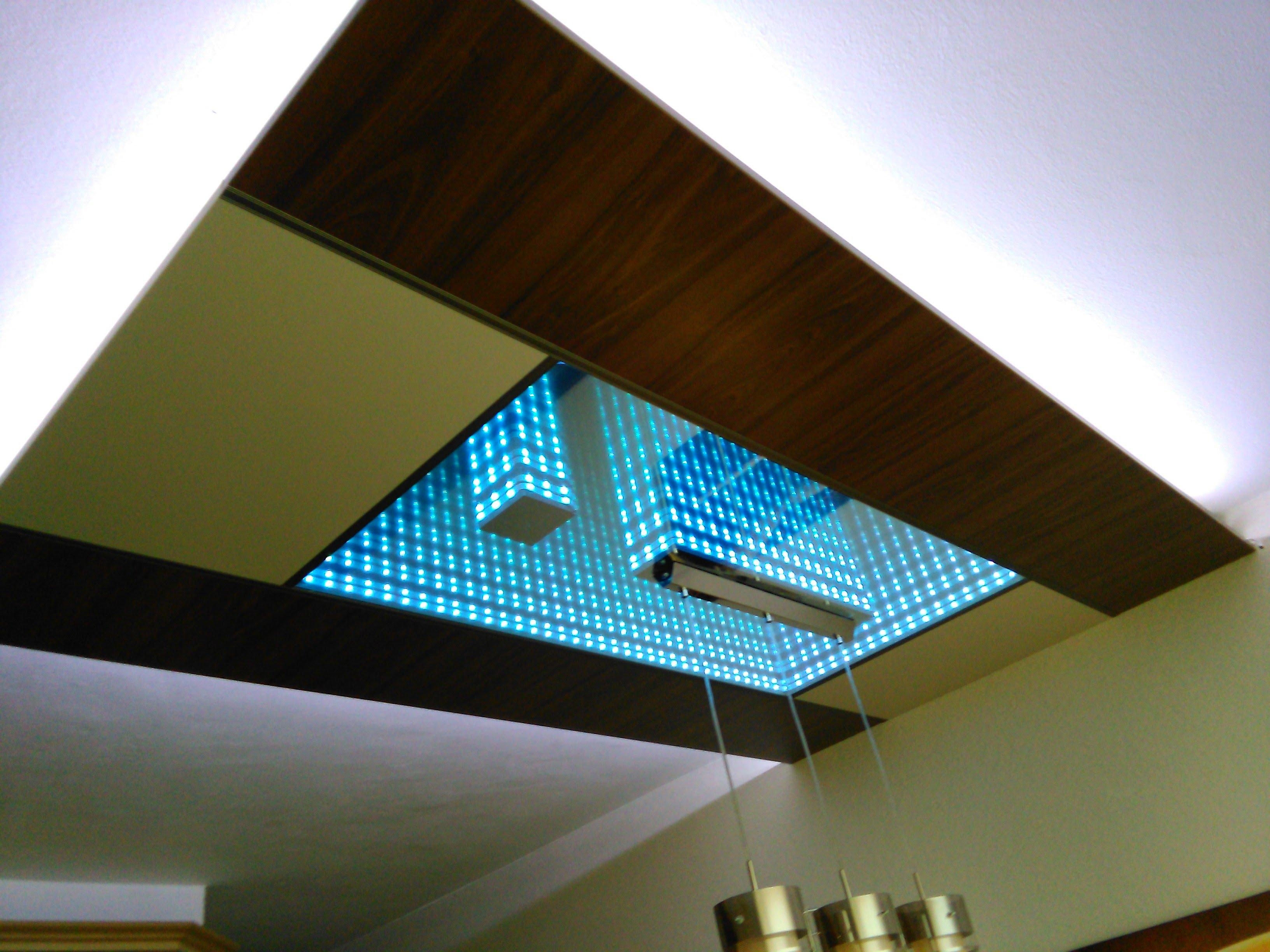 Led Infinity Mirror Ceiling – Youtube Regarding Mirror Ceiling Light (Image 13 of 20)