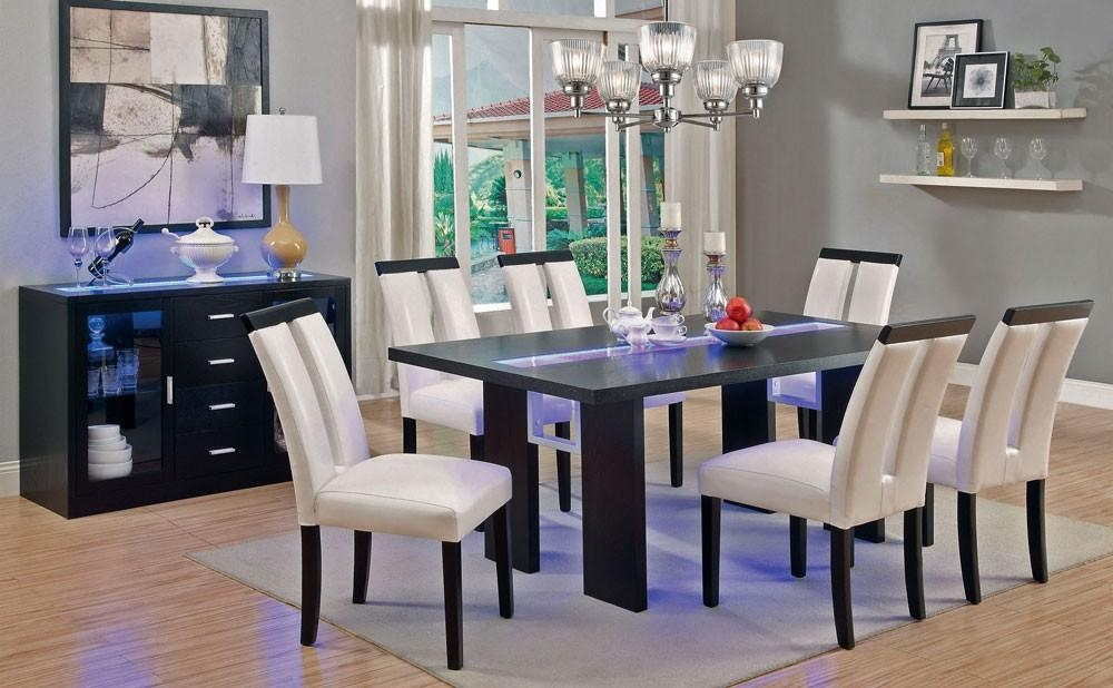 Led Light Dining Table Set In Led Dining Tables Lights (Image 10 of 20)