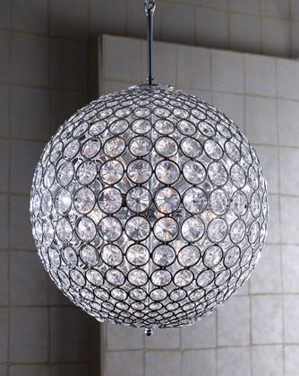 Left Coast Luxe Crystal Ball Chandelier For The Home With Regard To Crystal Ball Chandeliers Lighting Fixtures (Image 14 of 25)