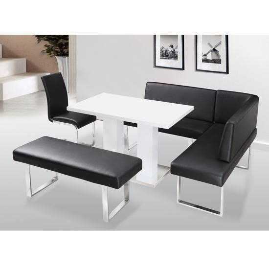 Liberty High Gloss Dining Table Set 14950 Furniture In With Gloss Dining Tables (Image 13 of 20)