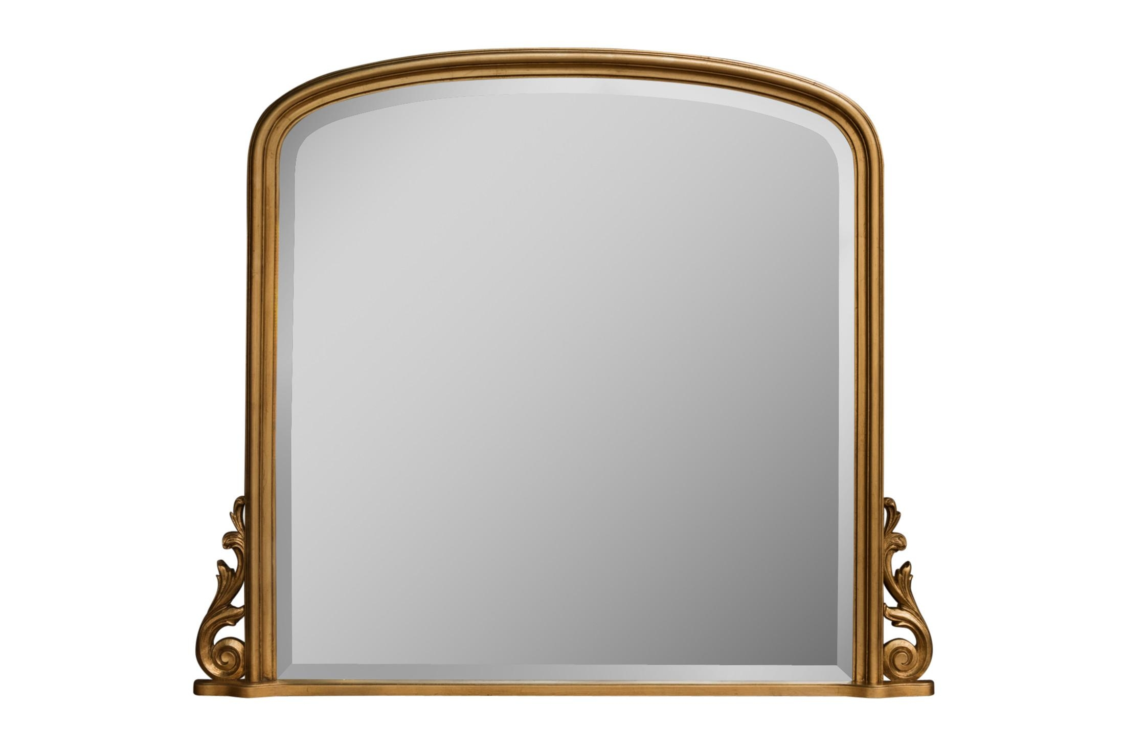 Libov4 Gold Overmantel | Gold Mirrors For Sale – Panfili Mirrors Throughout Gold Arch Mirror (Image 12 of 20)