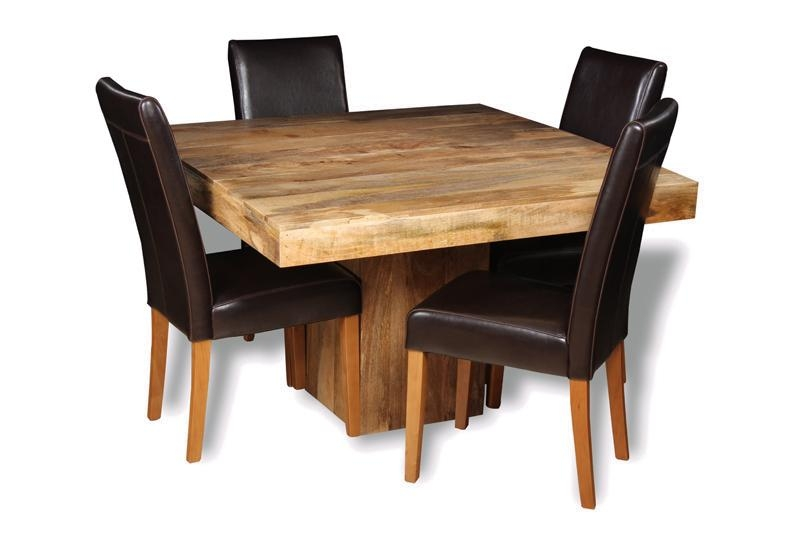 Light Dakota 120Cm Pyramid Dining Table & 4 Barcelona Chairs Regarding Barcelona Dining Tables (Image 15 of 20)