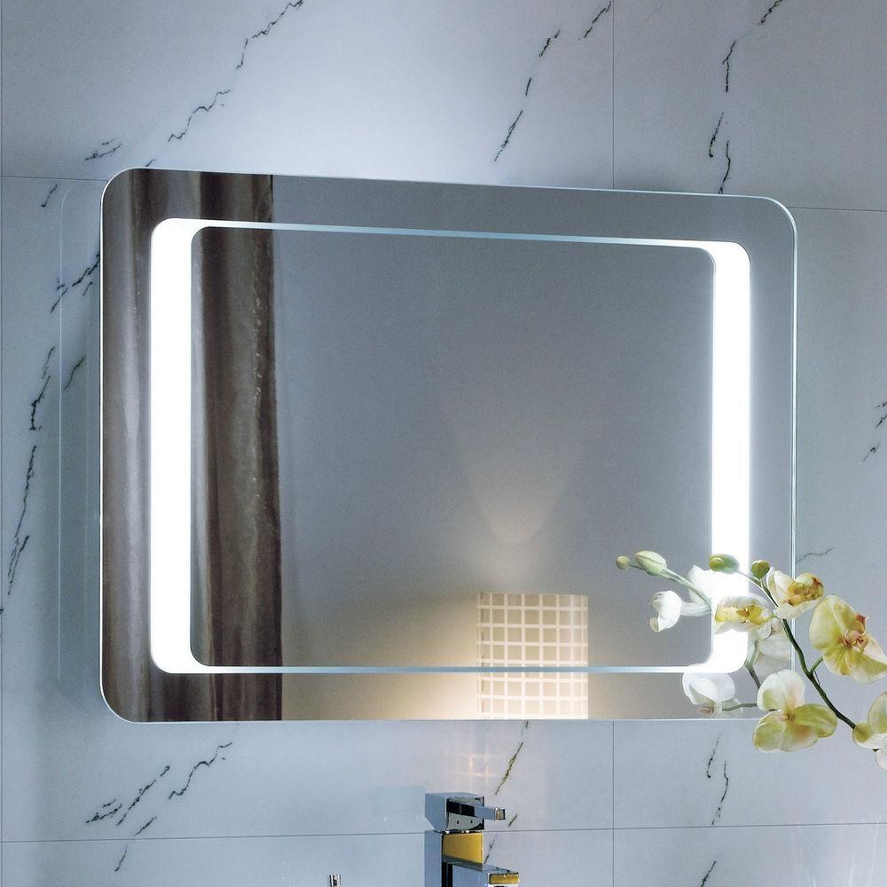 Lighted Bathroom Mirrors Large Illuminated Led Bathroom Mirror Throughout Large Illuminated Mirror (Image 16 of 20)