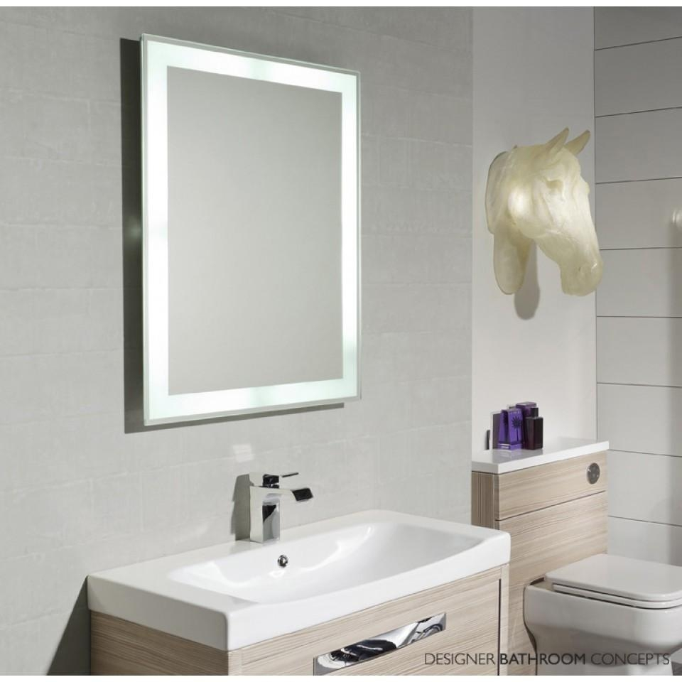 Lighted Bathroom Mirrors Large Illuminated Led Bathroom Mirror Within Large Illuminated Mirror (View 14 of 20)