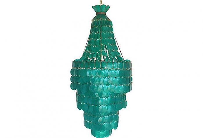 Lighting Beautiful Capiz Shell Chandelier For Home Lighting Ideas With Regard To Turquoise Drum Chandeliers (Image 15 of 25)