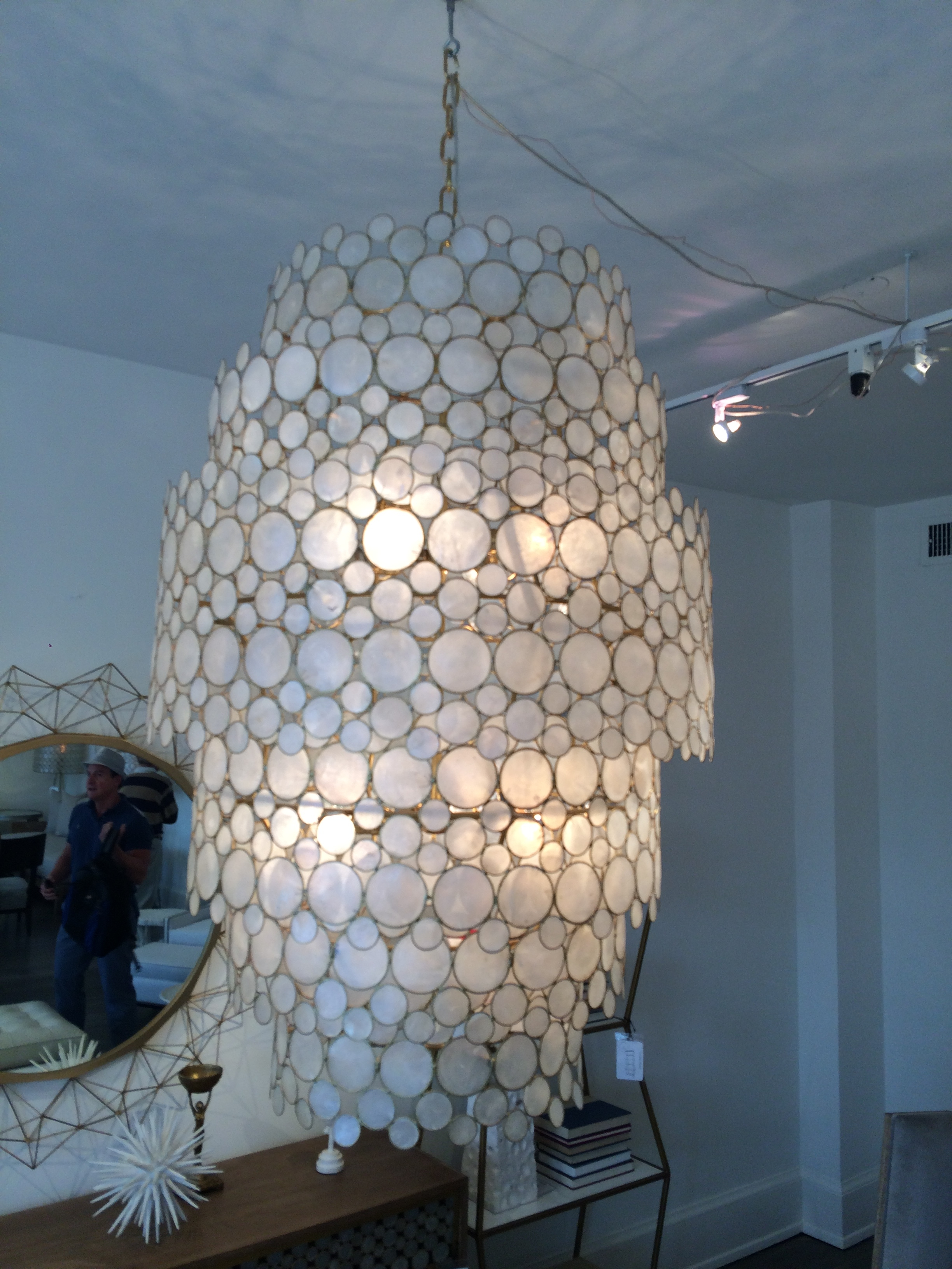 Lighting Beautiful Capiz Shell Chandelier For Home Lighting Ideas Within Waterfall Chandeliers (Image 11 of 25)