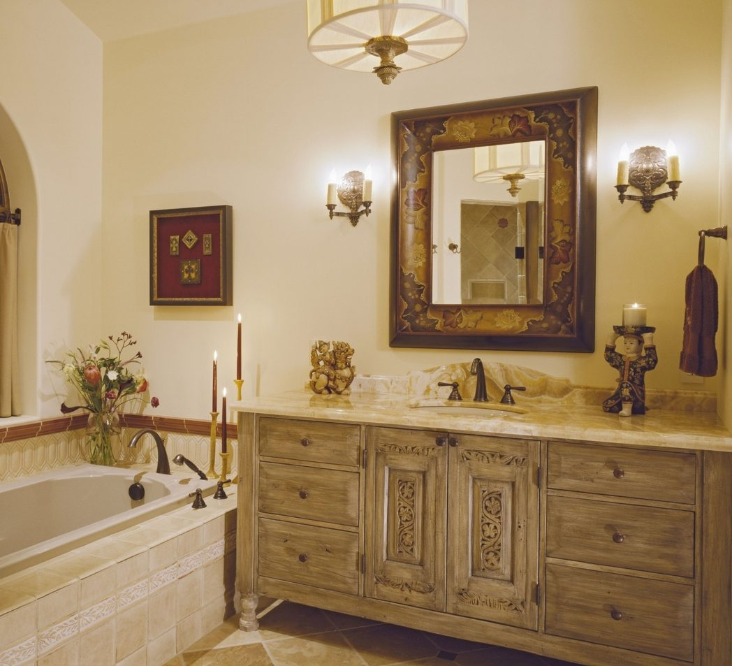 Lighting Flush Mount Lighting Bath Lighting Light Sconces Wall Intended For Bathroom Lighting With Matching Chandeliers (Image 19 of 25)