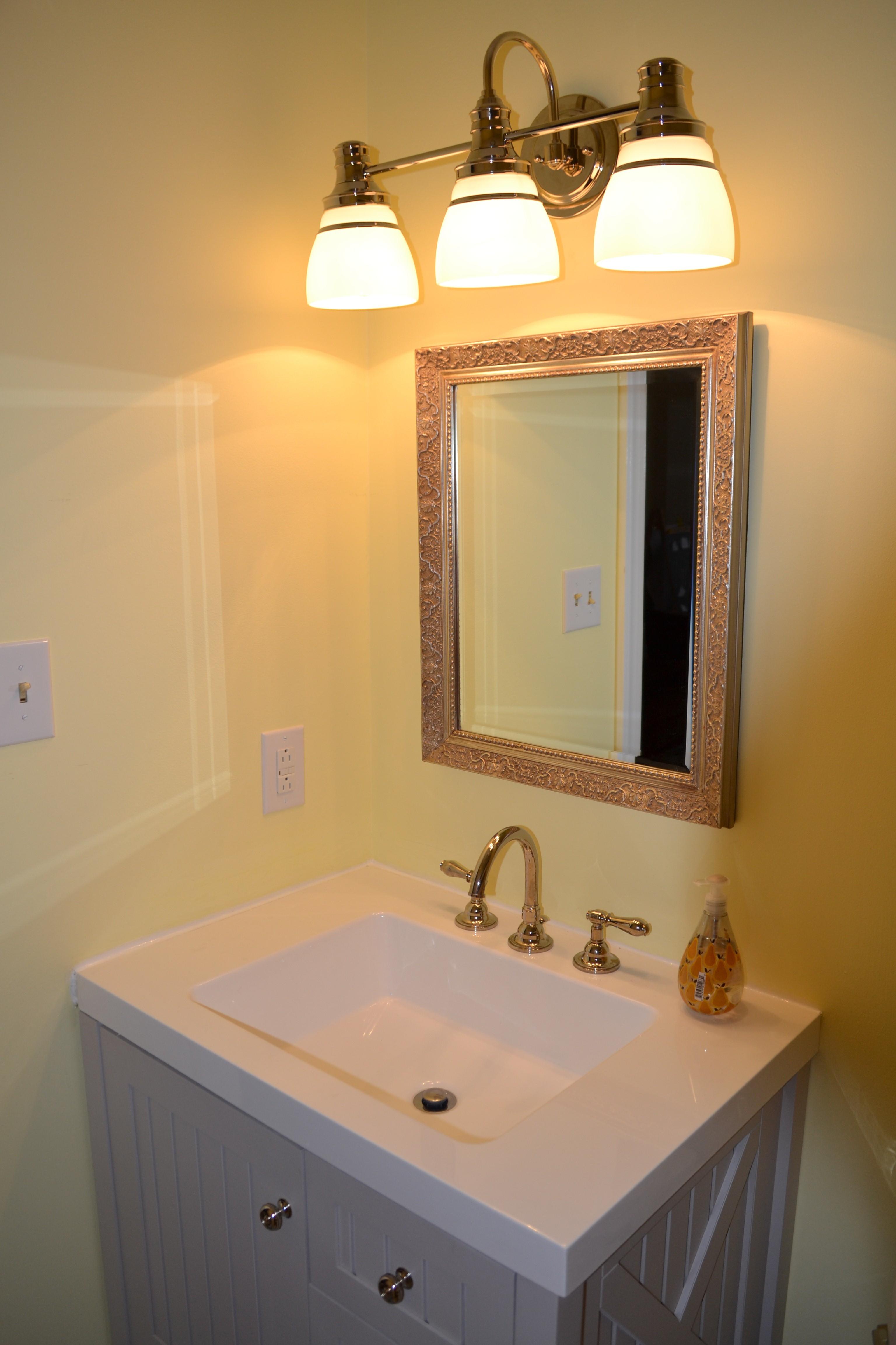 Lighting Flush Mount Lighting Bath Lighting Light Sconces Wall With Regard To Bathroom Lighting With Matching Chandeliers (Image 20 of 25)