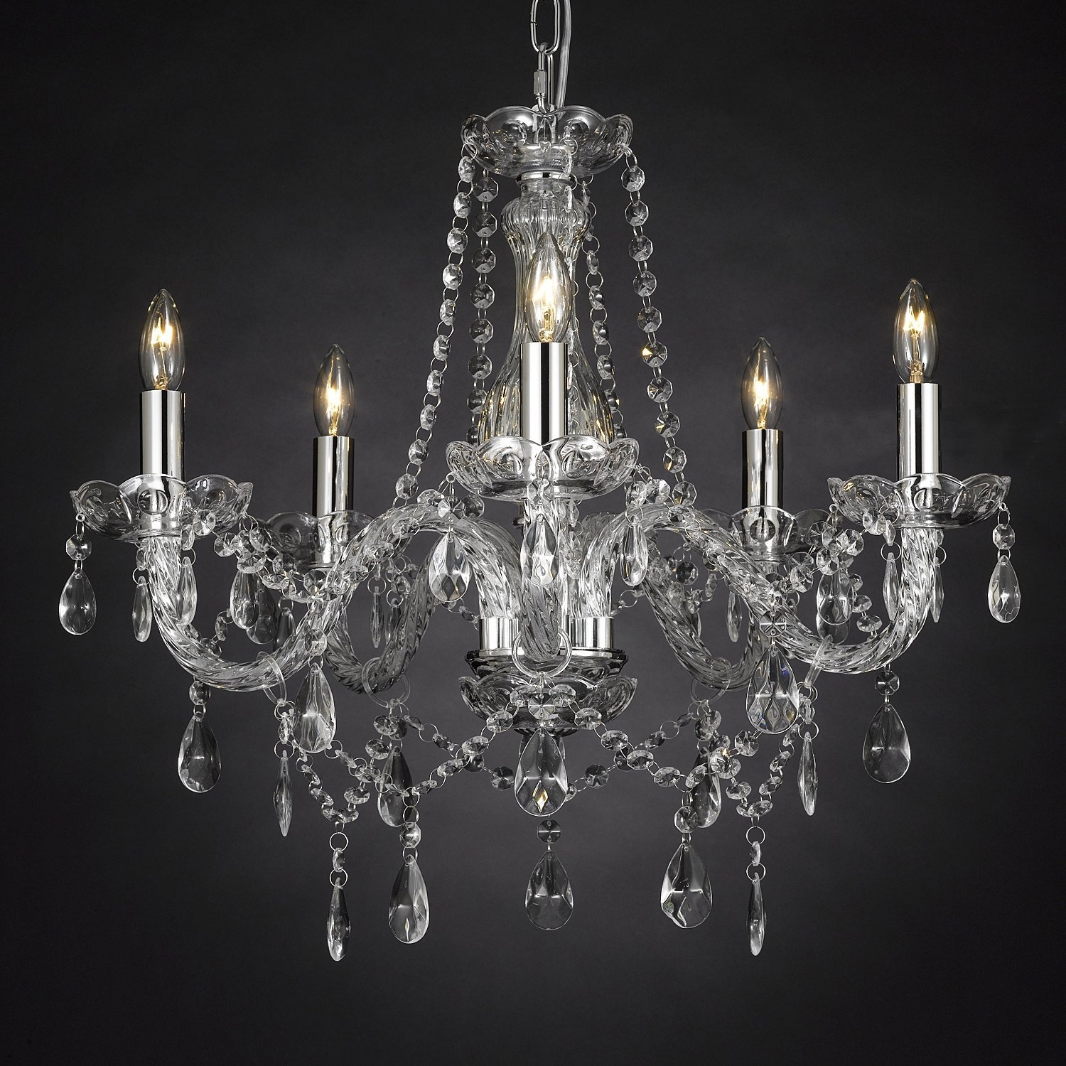 Lighting Wonderful Candle Chandelier Non Electric For Modern Throughout Cheap Faux Crystal Chandeliers (Image 20 of 25)