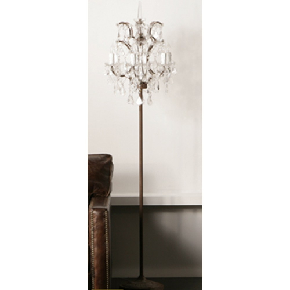 Lights Bling Floor Lamp Crystal Floor Lamp Crystal Chandelier Intended For Chandelier Standing Lamps (View 2 of 25)