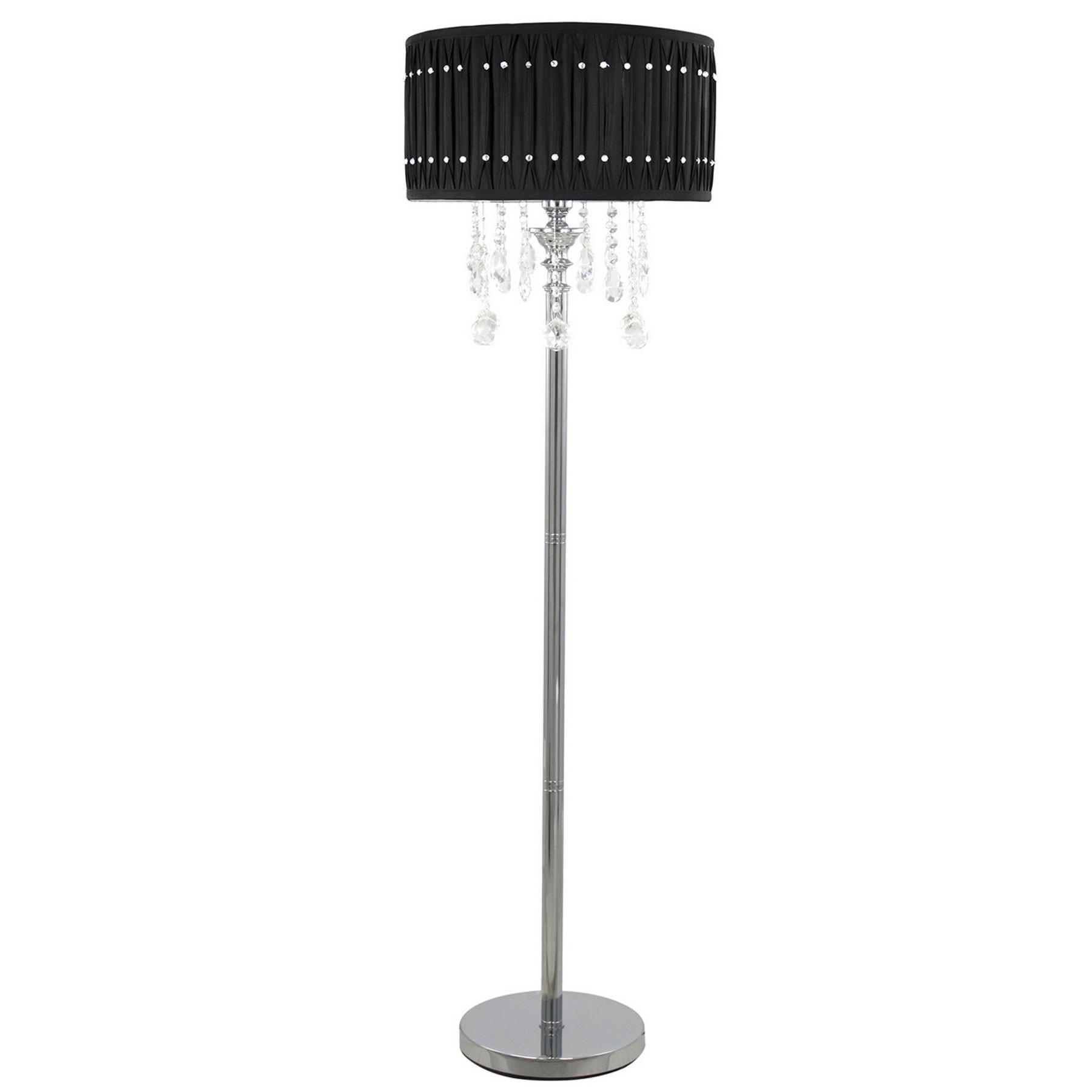 Lights Bling Floor Lamp Crystal Floor Lamp Crystal Chandelier Throughout Standing Chandelier Floor Lamps (Image 14 of 25)