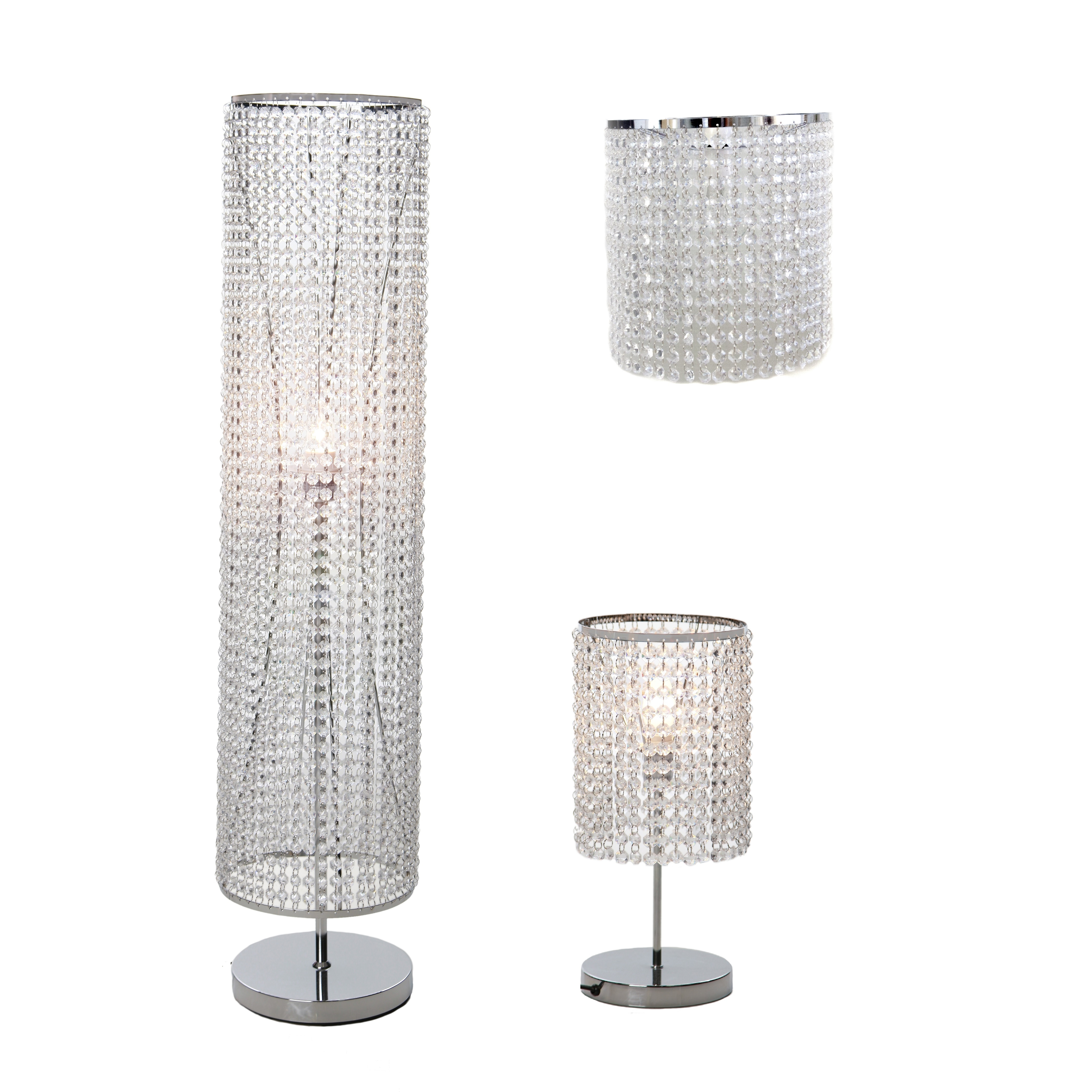 Lights Cheap Chandelier Floor Lamp Chrome Arc Lamp Crystal Throughout Chandelier Standing Lamps (Image 15 of 25)