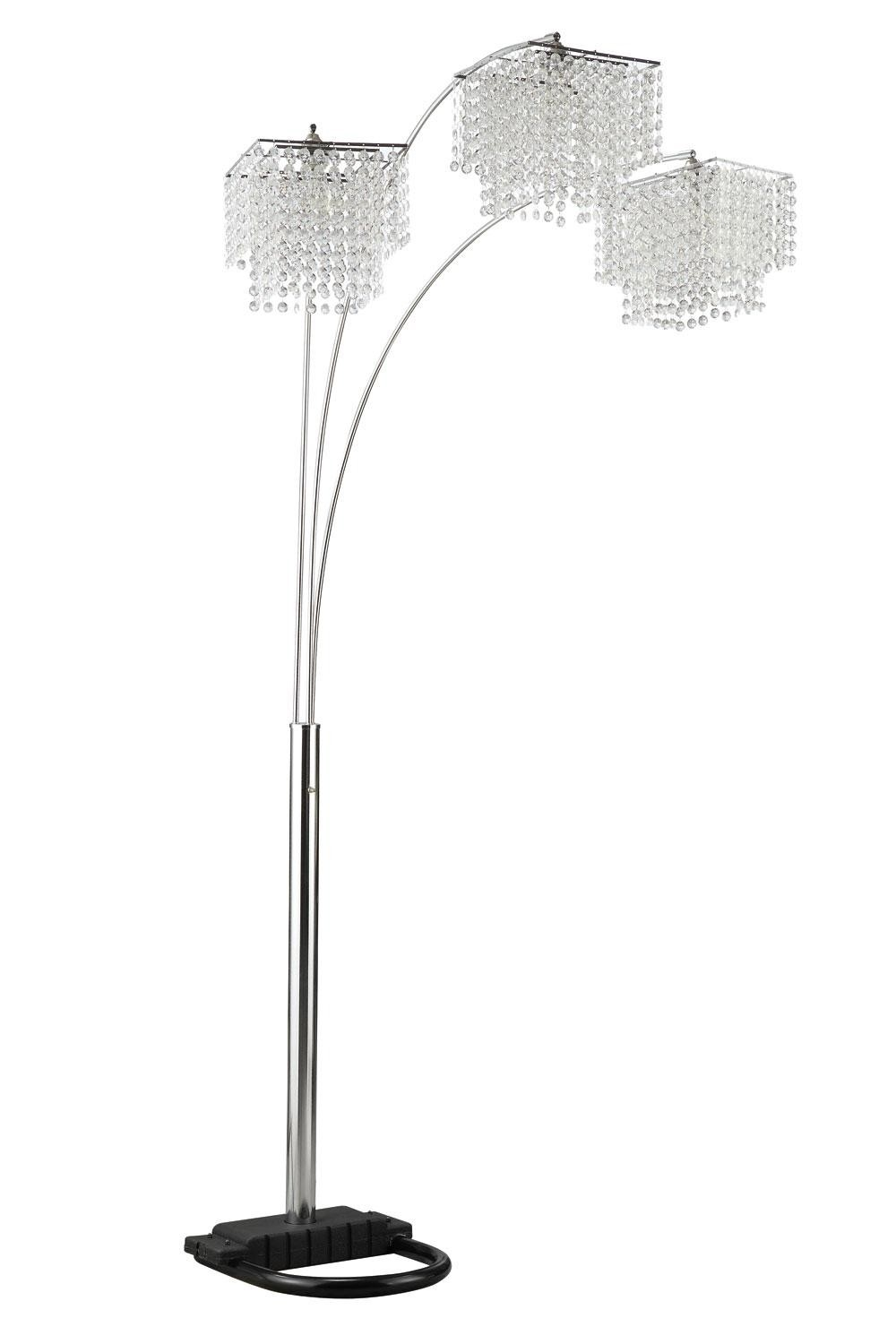 Lights Cool Floor Lamp Design With Luxury Crystal Floor Lamp Throughout Standing Chandeliers (View 11 of 25)