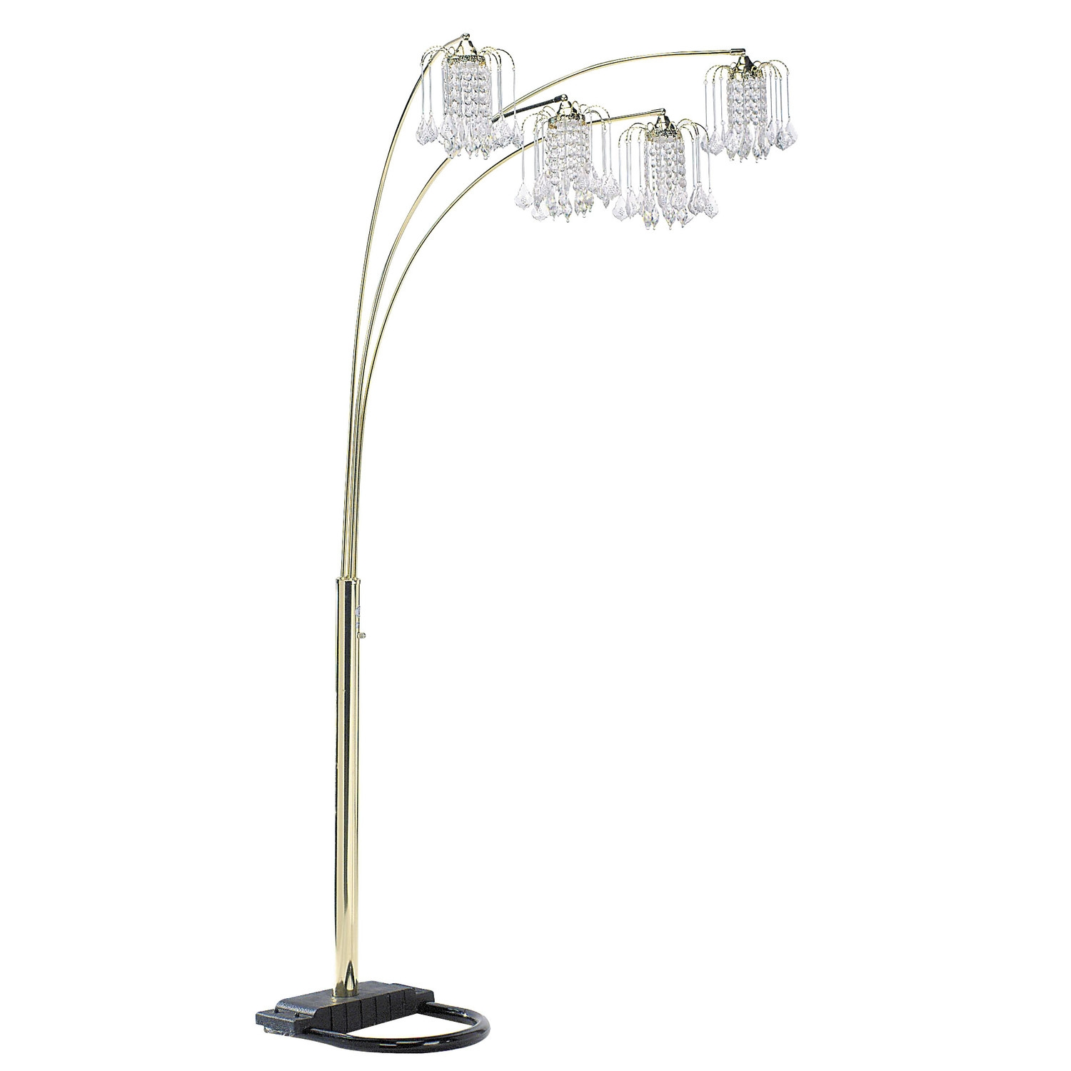 Lights Crystal Floor Lamp Tall Chandelier Lamp Tall Crystal Lamps Within Black Chandelier Standing Lamps (Image 21 of 25)