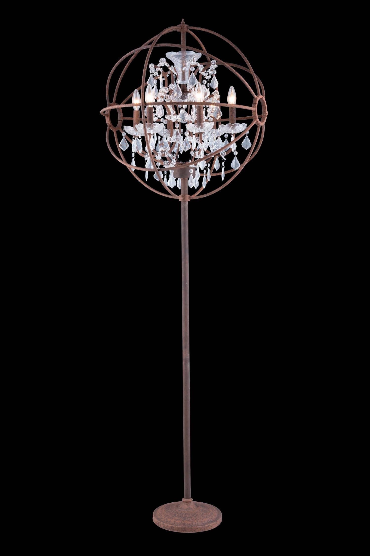 Lights Polished Chrome Floor Lamp Chandelier Floor Lamp Within Standing Chandeliers (View 7 of 25)
