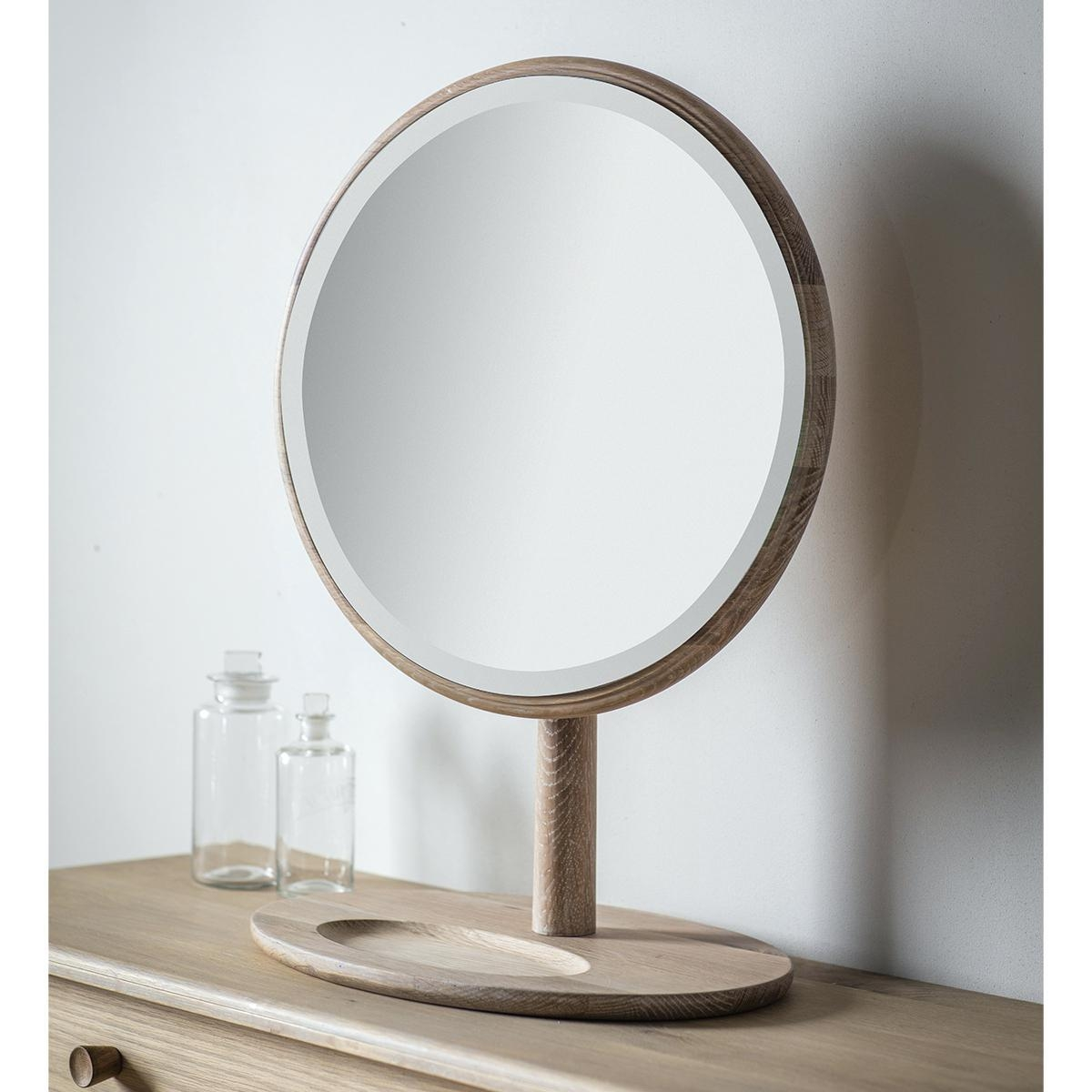 Lila Range White Dressing Table And Mirrorantique Oval Mirror Throughout Free Standing Table Mirror (Image 10 of 20)