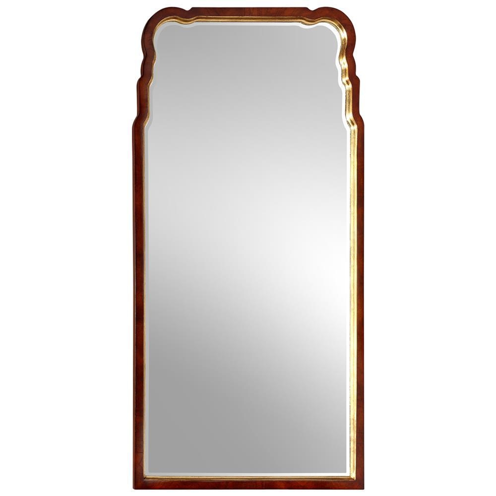Limoges French Country Mahogany Burl Wood Gold Arch Mirror | Kathy Inside Gold Arch Mirror (Image 13 of 20)