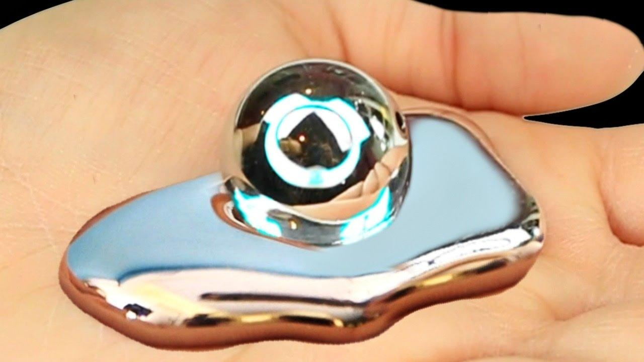 Liquid Mirror!? Metal That Melts In Your Hand! – Youtube With Regard To Liquid Glass Mirrors (Image 15 of 20)