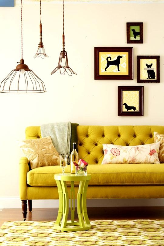 Little Lovables: Inspired Room: Designing With Mustard And Chartreuse Regarding Chartreuse Sofas (Photo 10 of 20)
