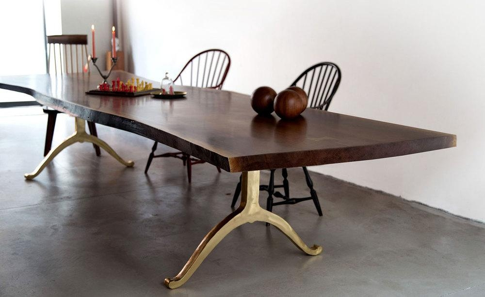 Live Edge Table / Solid American Black Walnut Live Edge Dining Pertaining To New York Dining Tables (Image 8 of 20)