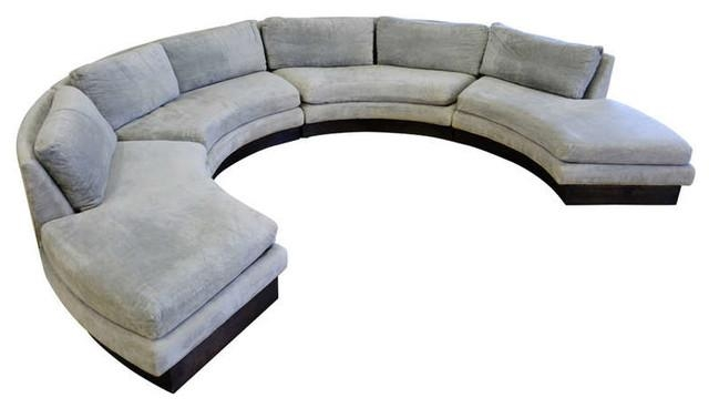 Living Room Great Modern Circular Sectional Couch For House Intended For Semi Sofas (Image 10 of 20)