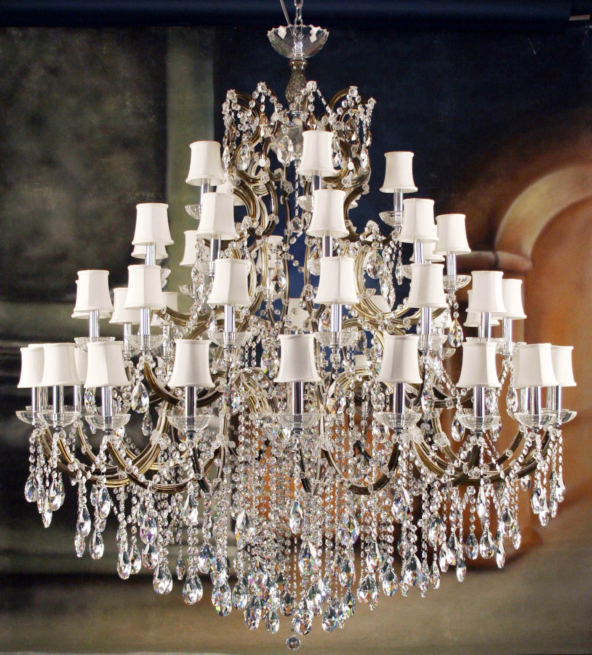 Living Room High Quality Crystal Chandeliers For Home Lighting Intended For Lampshades For Chandeliers (Image 11 of 25)