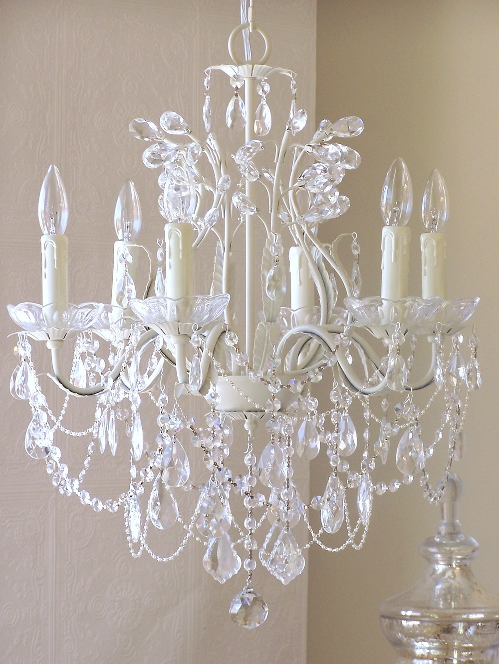Living Room High Quality Crystal Chandeliers For Home Lighting Regarding White And Crystal Chandeliers (Image 21 of 25)
