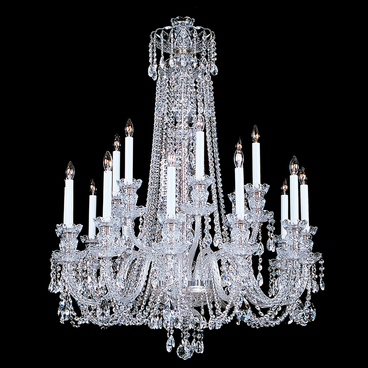 Living Room High Quality Crystal Chandeliers For Home Lighting Throughout Florian Crystal Chandeliers (Image 17 of 25)