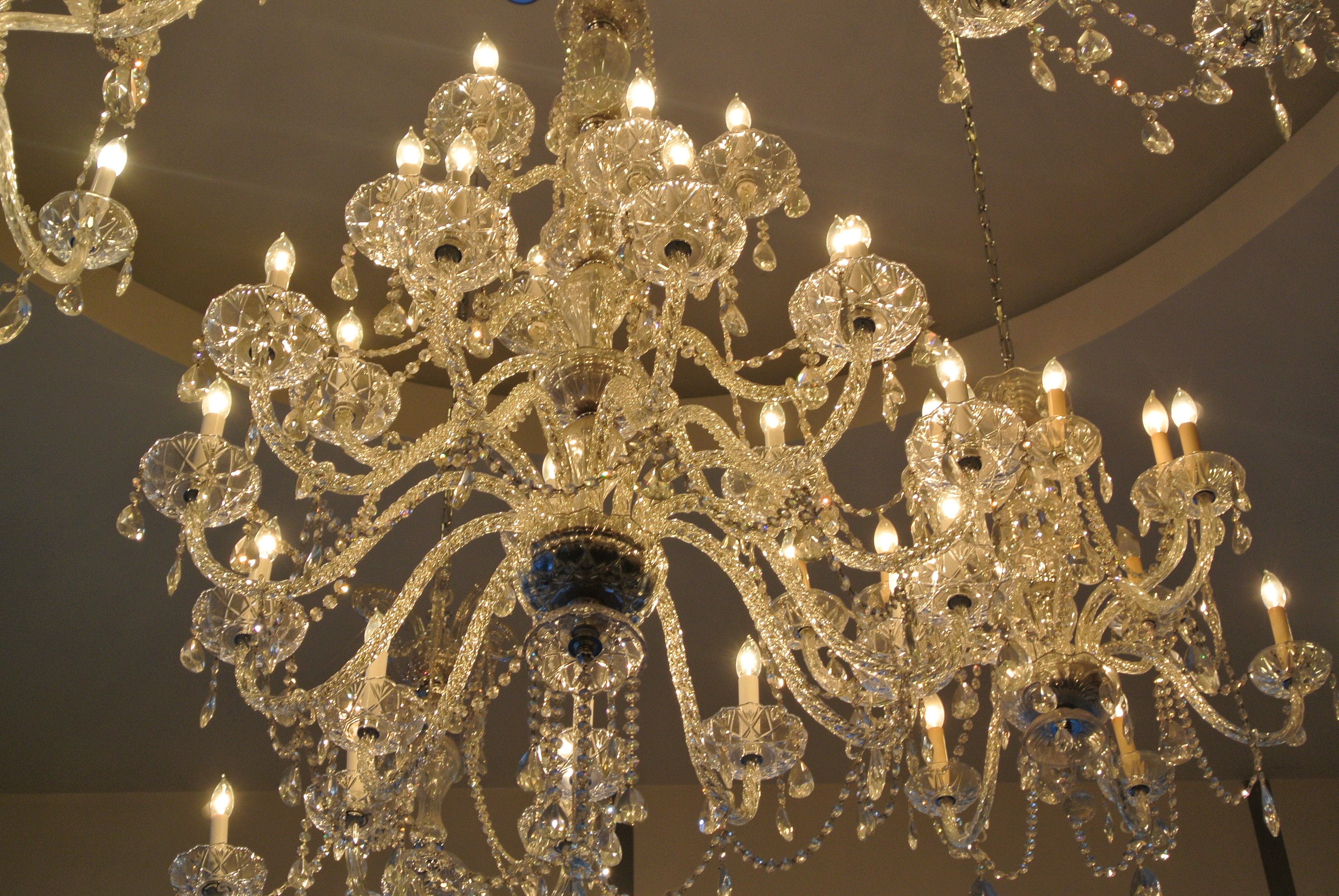 Living Room High Quality Crystal Chandeliers For Home Lighting With Florian Crystal Chandeliers (Image 18 of 25)