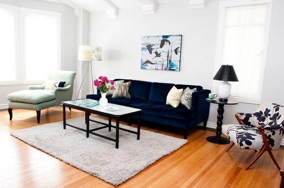 Living Room With Dark Blue Sofa – Pueblosinfronteras In Midnight Blue Sofas (View 11 of 20)