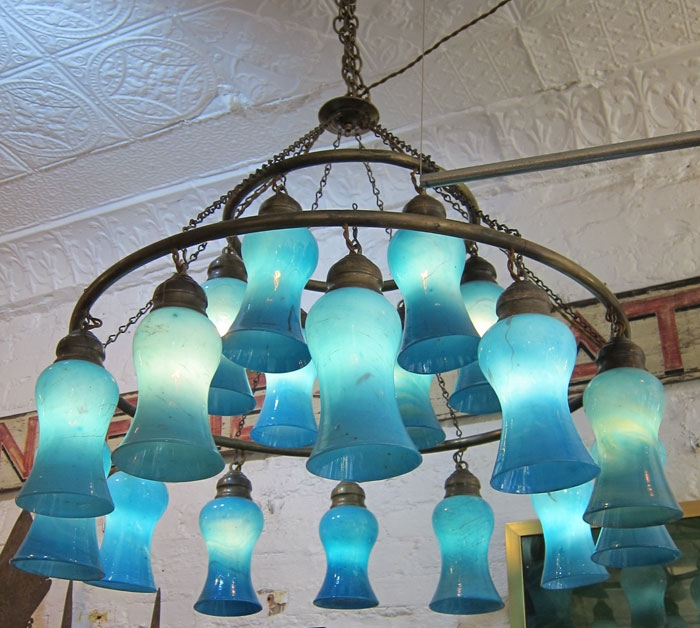 Liza Sherman Egyptian Chandeliers For Turquoise Blown Glass Chandeliers (Image 17 of 25)