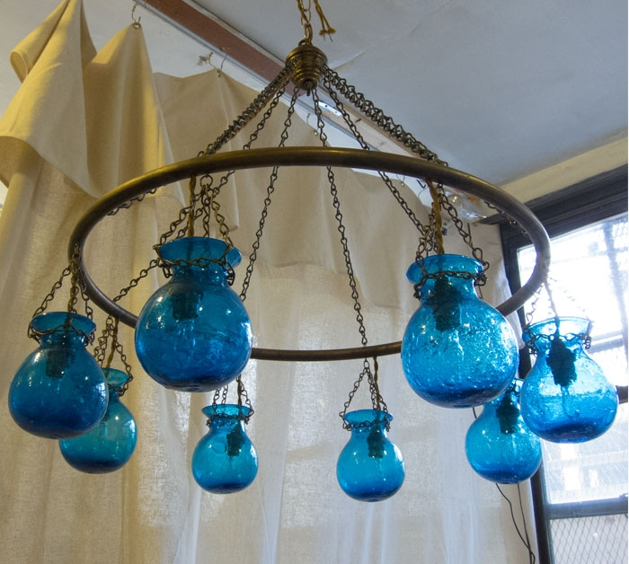 Liza Sherman Egyptian Chandeliers Intended For Turquoise Blown Glass Chandeliers (Image 18 of 25)