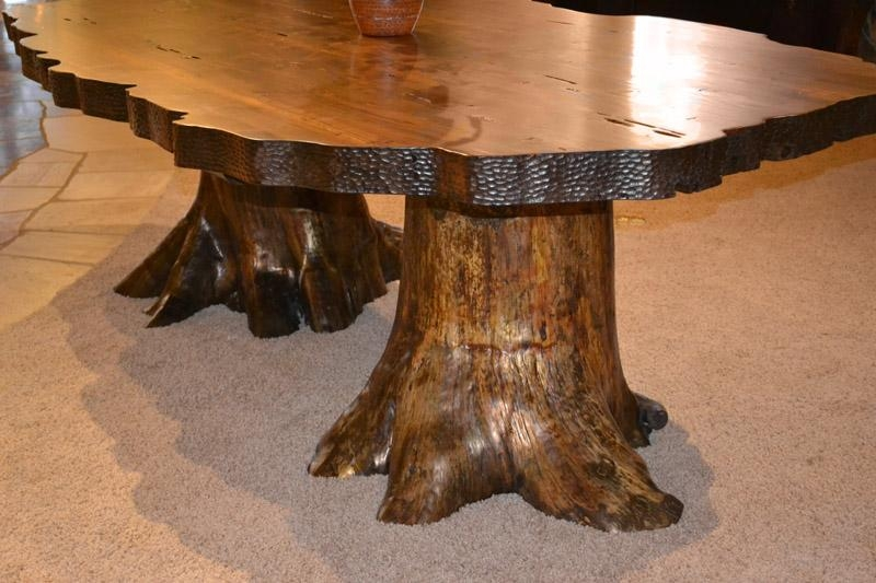 Lodge Dining Table | Cabin Dining Tables | Rustic Dining Tree Inside Tree Dining Tables (Image 11 of 20)
