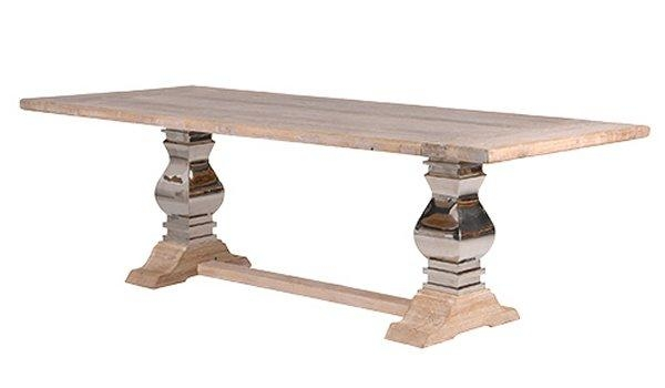 Loft Dining Furniture: Industrial Rustic Dining Tables, Chairs For Dining Tables With Large Legs (Image 16 of 20)