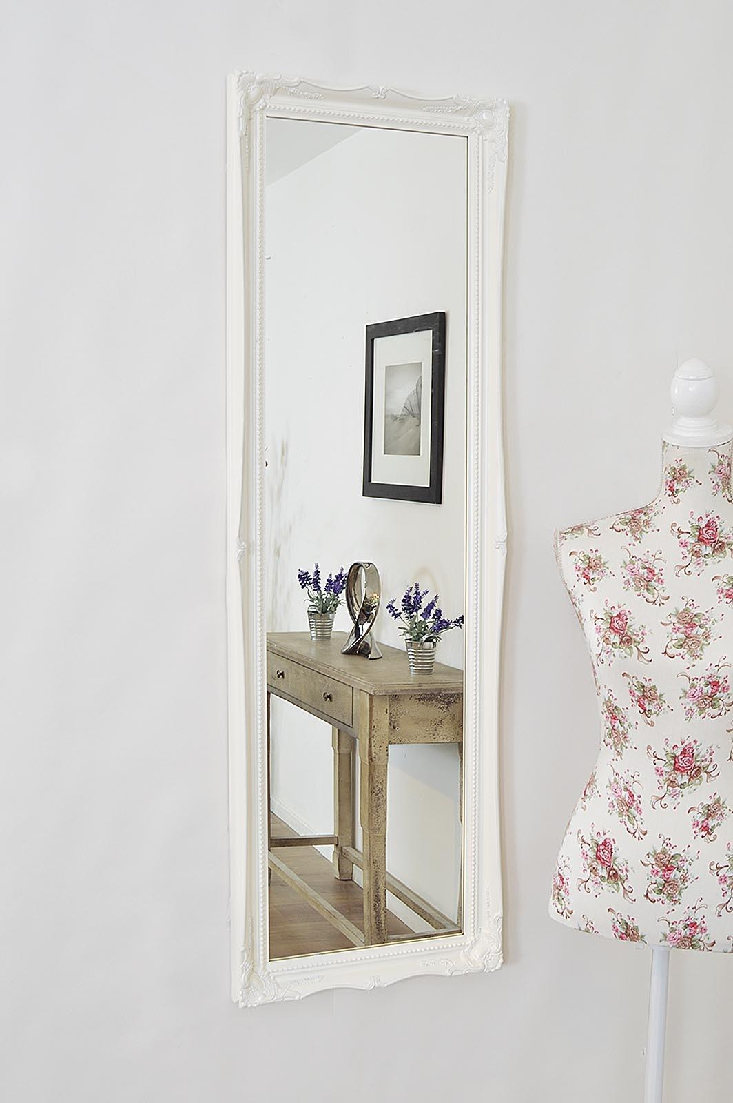 Long Mirrors For Walls 69 Cute Interior And Smoked Antique Mirror Pertaining To White Antique Mirrors (Image 18 of 20)