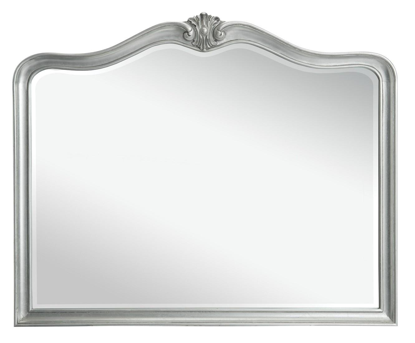 Louis French Silver Leaf Wall Mirror | Oak Furniture Uk With Regard To French Wall Mirrors (Image 12 of 20)