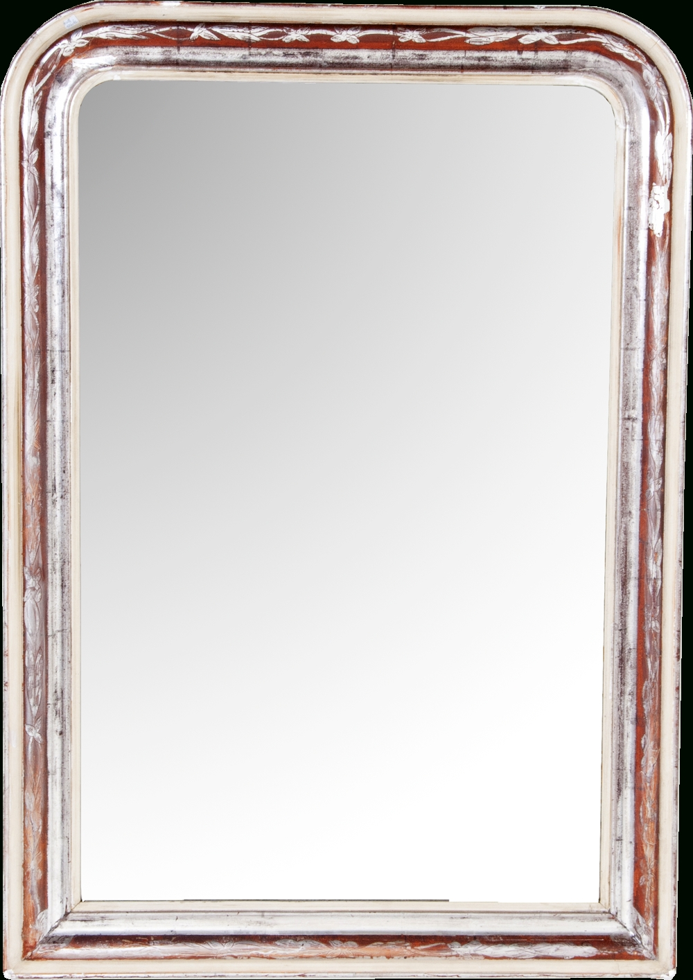 "Louis Philippe Silver Gilt Mirror, 47"" X 33"" For Silver Gilt Mirror (Image 17 of 20)"